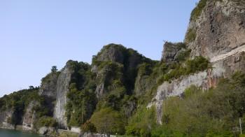 耶馬渓青の洞門