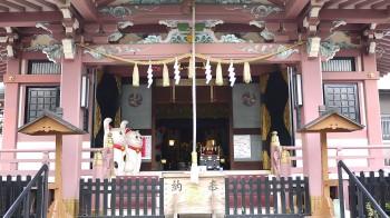 今戸神社本堂招き猫