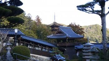 瑠璃光寺鐘楼腰の五重塔