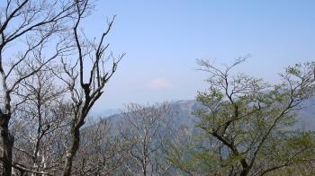 山頂付近からの富士