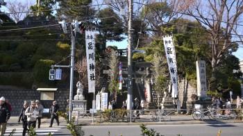 品川神社入り口