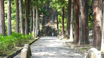 山門から続く参道