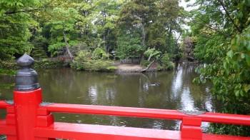 大宮氷川神社神橋から宗像神社