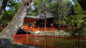 生島足島神社全景
