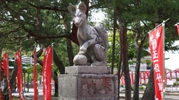 竹駒神社狛犬(きつね)
