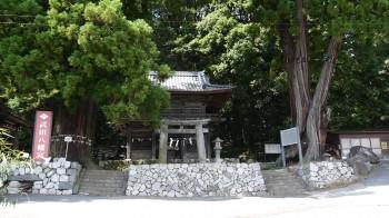 武田八幡宮入口