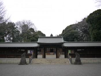 井草神社神門正
