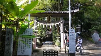 南沢氷川神社入口「