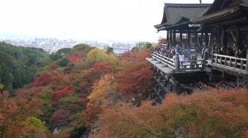 清水寺舞台と紅葉