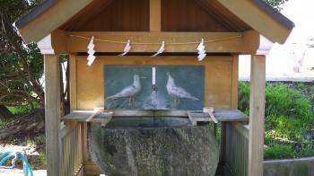 蕪島神社手水