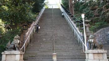 愛宕神社の階段参道