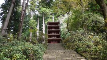 室生寺五重塔前景