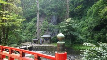 神橋から滝