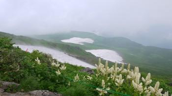 9号目下の雪渓