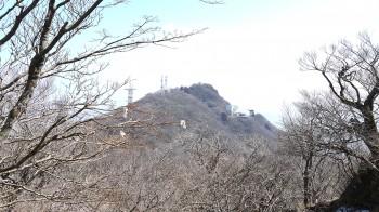男体山山頂から女体山