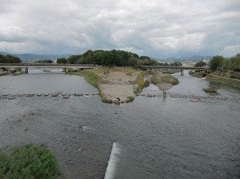 賀茂川と高野川合流