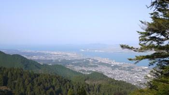 坂本ケーブル叡山駅から琵琶湖