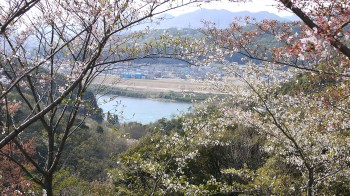 寂光院から木曽川