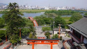 草戸神社本殿からの眺め