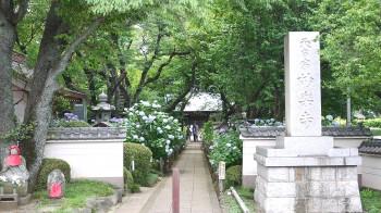 妙楽寺入り口