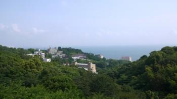 金剛寺から海