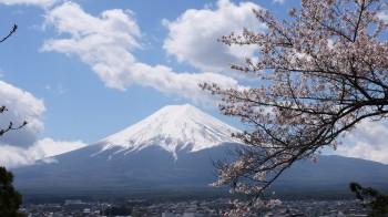 新倉浅間神社拝殿近くからの富士