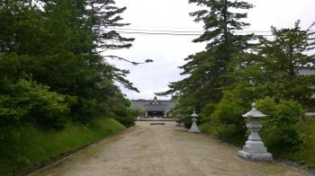 秋田護国神社境内