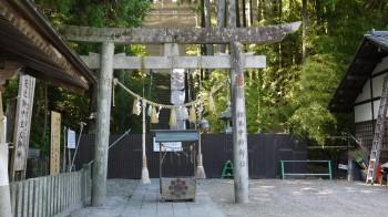 中村神社社殿修理中